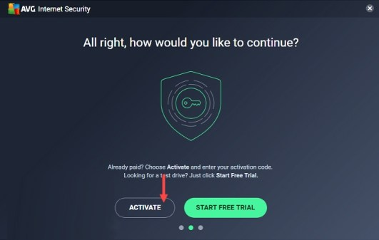 avg internet security activate system