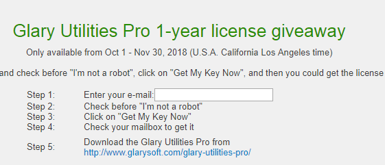 glary utilities pro 5 11 license key 2019 giveaway