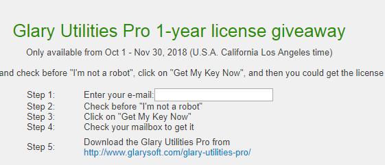 free 1 year license key