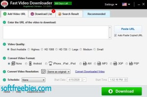 Fast Video Downloader Registration Key Free 1 Year