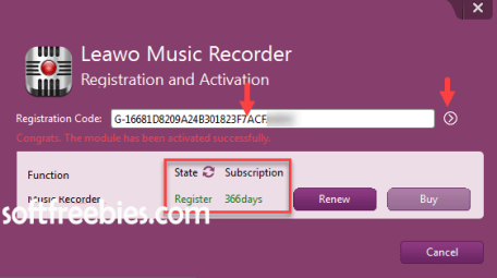 leawo music recorder giveaway key download
