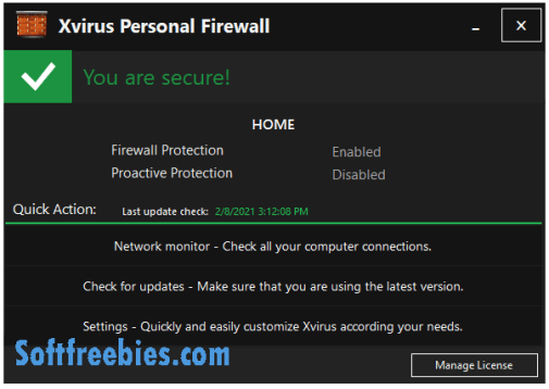 Xvirus Personal Firewall PRO License Giveaway