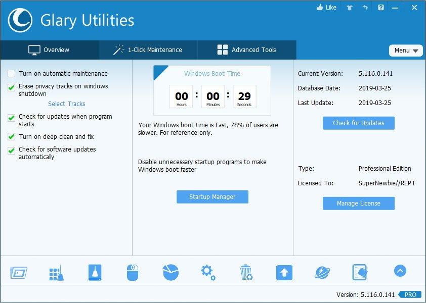 Glary Utilities Pro 5 License Key