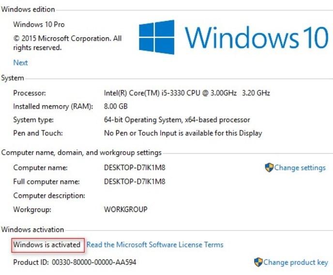keygen for windows 10 pro