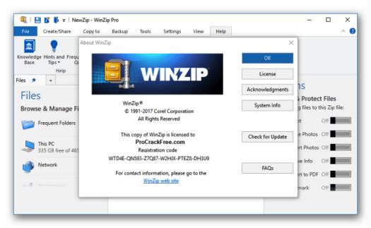 WinZip Crack Pro 24 + Full License Key Free Download 2020