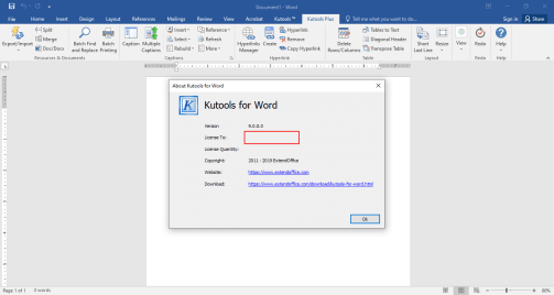 Kutools For Word [9.0.0] Full Crack (Latest Version) Free Download