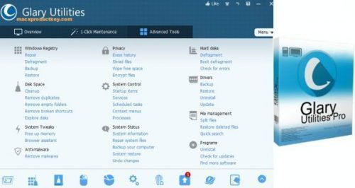 Glary Utilities Pro 5.159.0.185 + Key latest Version 2021 Download