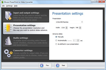 How do I convert Powerpoint presentation to video