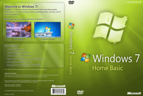 Windows 7 Home Basic Full Version Free Download ISO 32 / 64 Bit