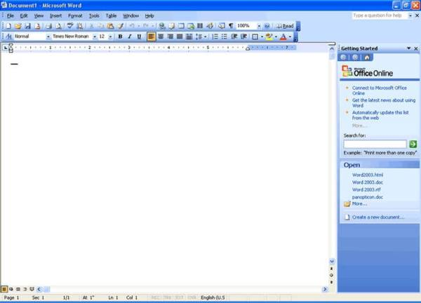 microsoft word 2003 free trial