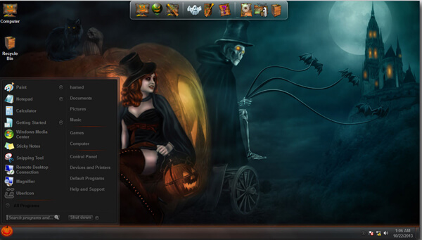 Halloween Skin Pack Free Download V2 For Windows 7- 8 - Softlay