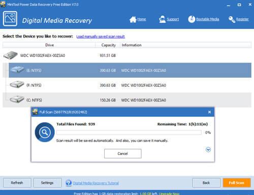 Minitools power Data recovery