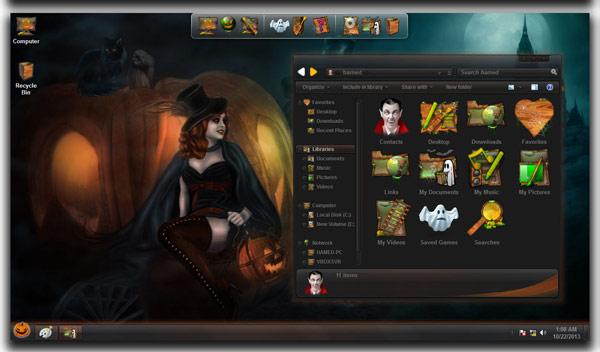 Free Halloween SkinPack Download