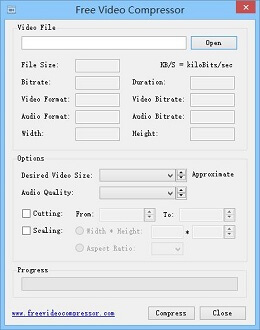 Free Video compressor interface