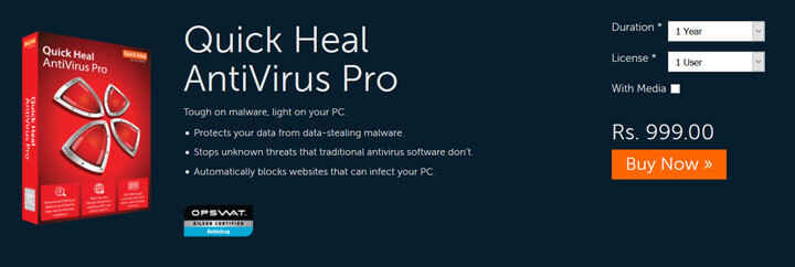 Quick Heal Total Security Free Download For Windows 7/8