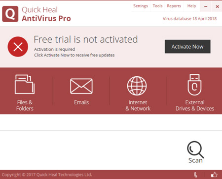 Quick Heal Antivirus Pro 2018 Free Download Windows 10 & 7 - Softlay