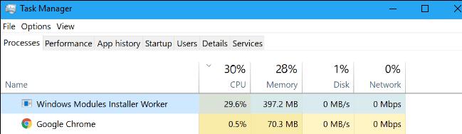 What is Windows Modules Installer Worker?