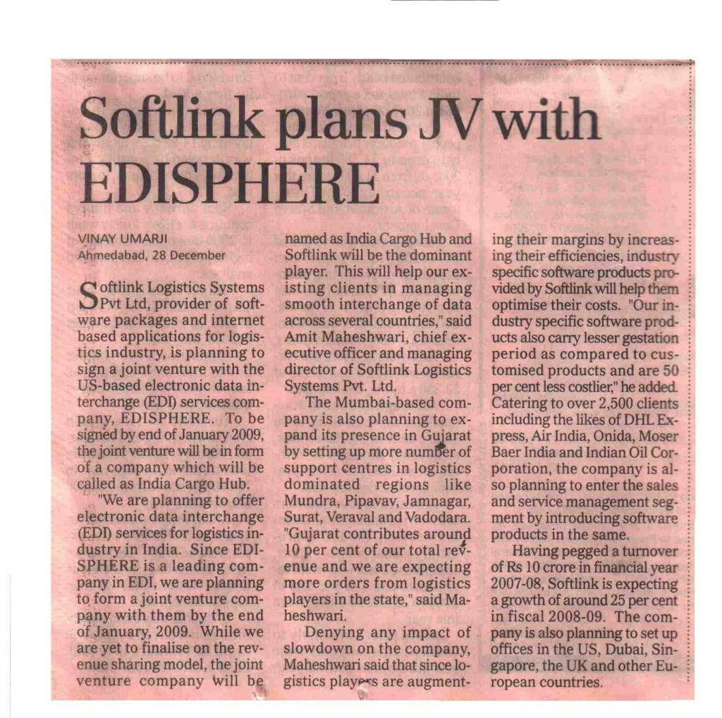 Softlink Pans jv with edisphere
