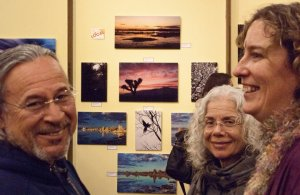 Friends in attendance at Maggie Houtz's photo show