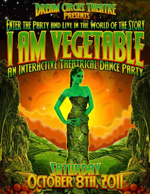 I Am Vegetable - front of flyer