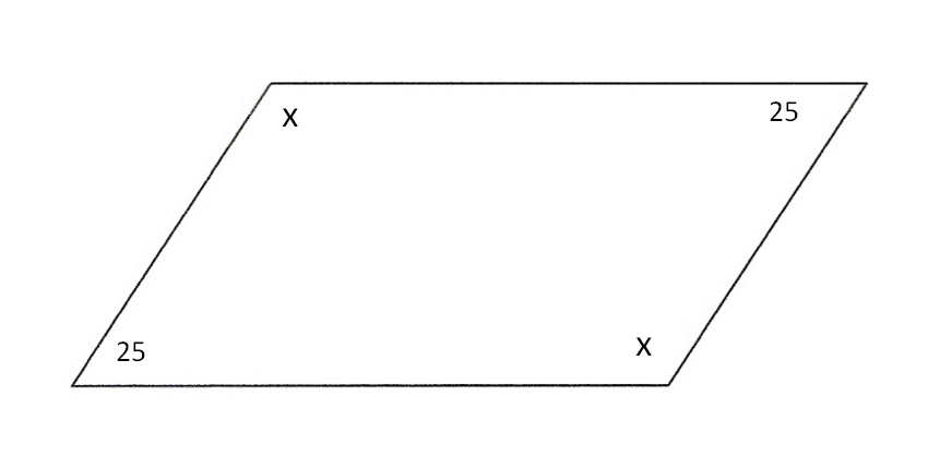 One angle of a parallelogram measures...