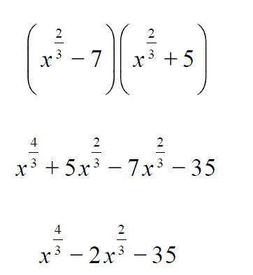 More expressions involving rational exponents