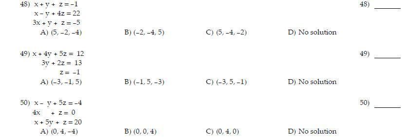 Math 112 practice test 4
