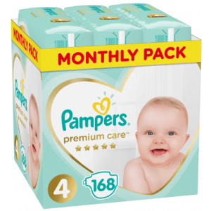 Πάνες Pampers Premium Care Monthly Pack Νο4 (9-14kg) 168τεμ