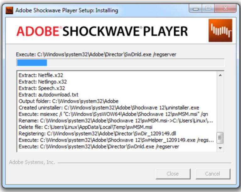 Shockwave Player for Windows