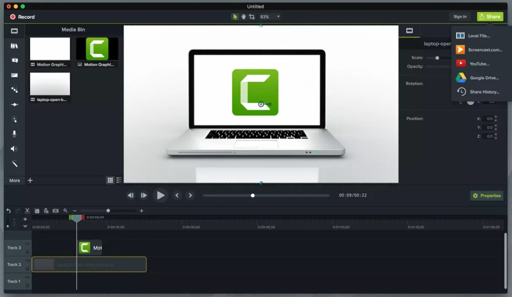 Camtasia Studio for Windows