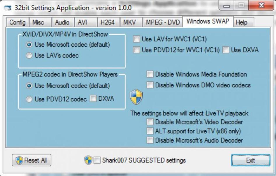 STANDARD Codecs for Windows