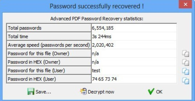 Advanced PDF Password Recovery for Windows