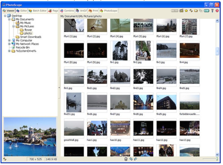 Here are some screenshots and Features of PhotoScape for Windows