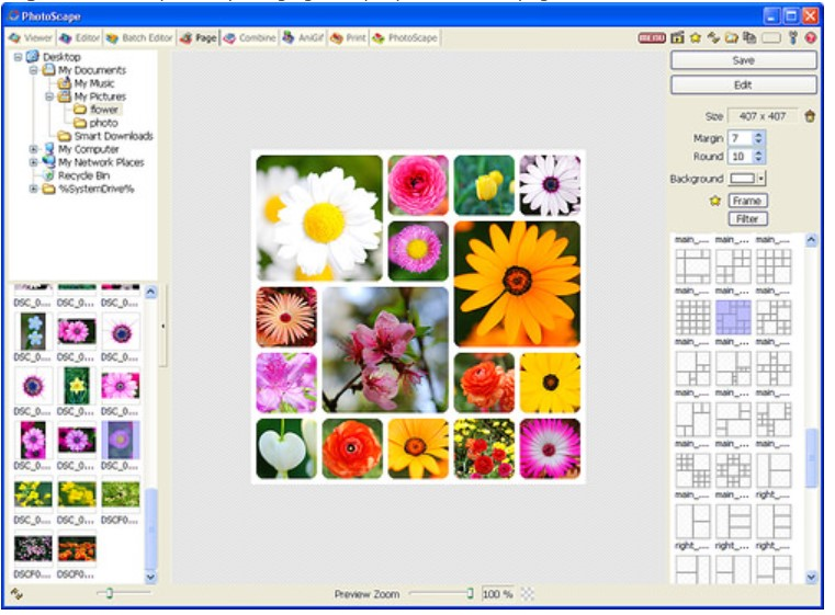 Here are some screenshots and features of PhotoScape for Windows: