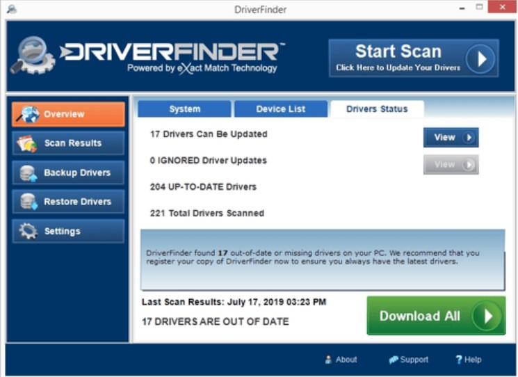 DriverFinder for Windows