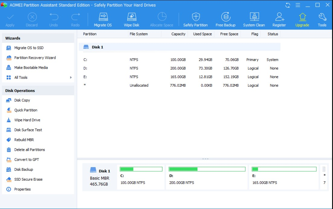 AOMEI Partition Assistant Standard for Windows