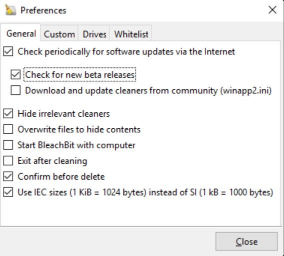 BleachBit for Windows