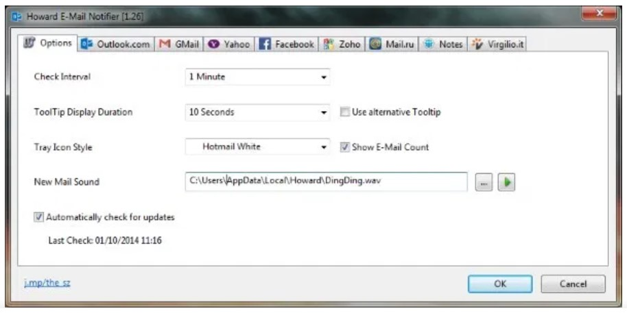 Howard Email Notifier for Windows