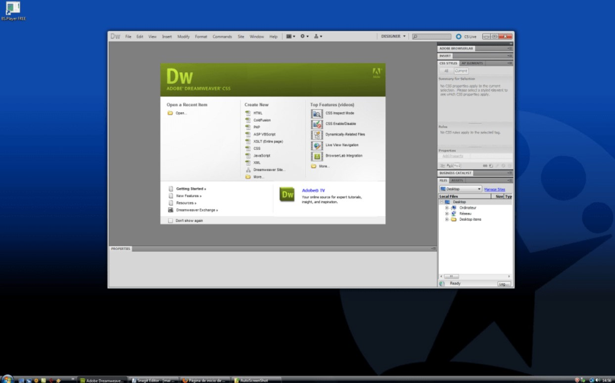 Adobe Dreamweaver for Windows