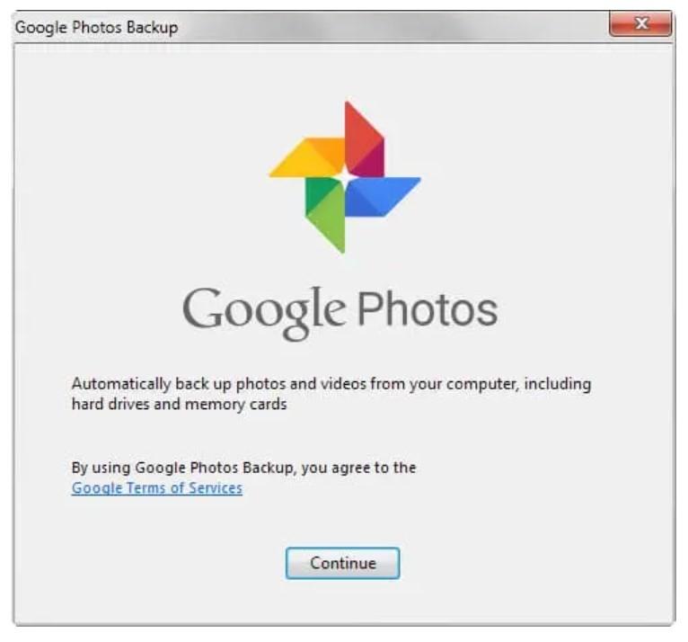 Google Photos Desktop Uploader for Windows
