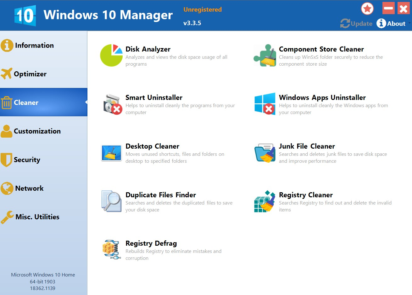Windows 10 Manager for Windows