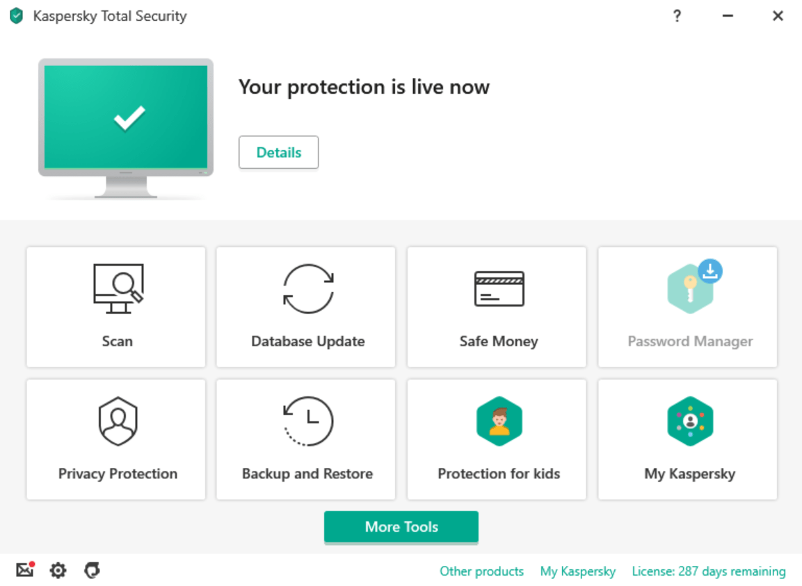 Kaspersky Total Security for windows
