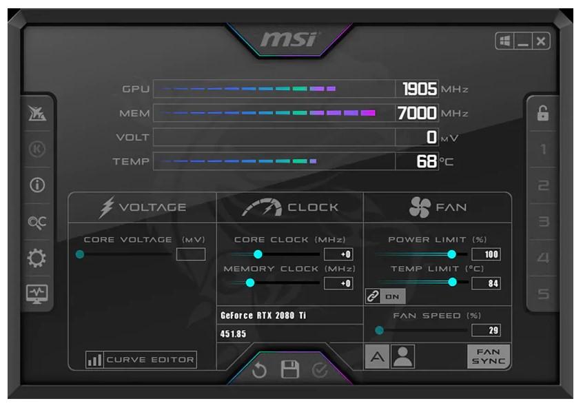 MSI Afterburner for Windows