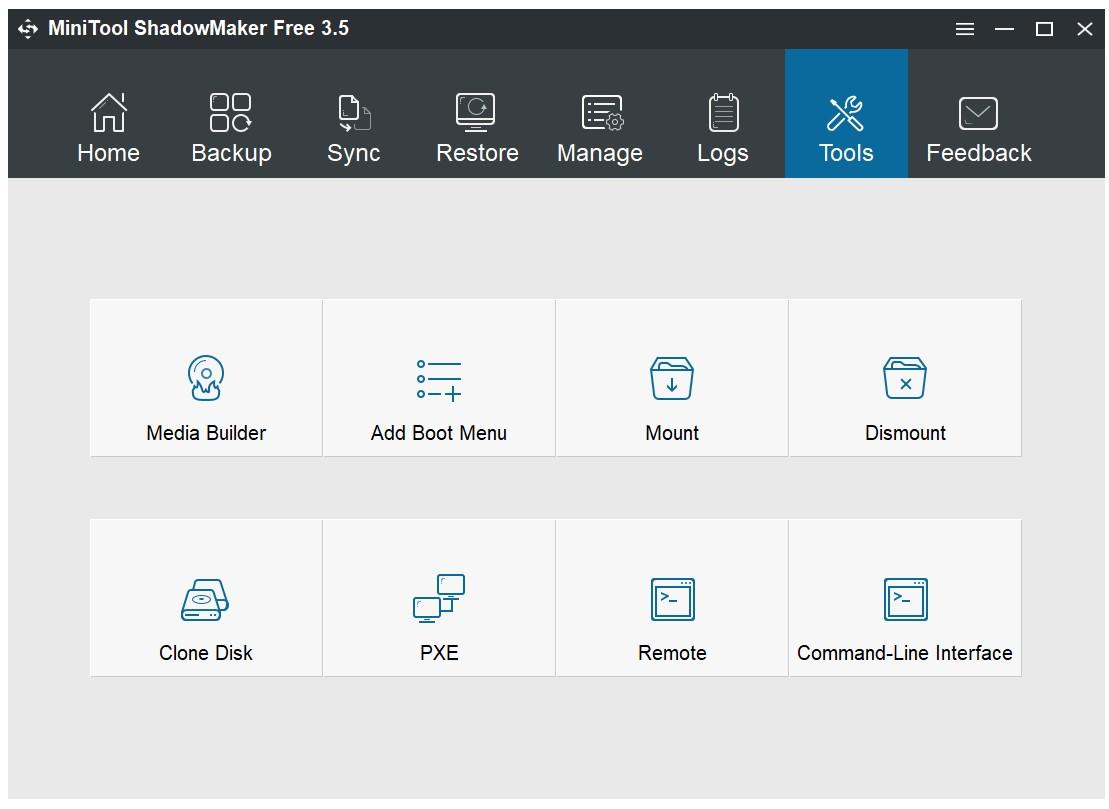MiniTool ShadowMaker Free for Windows