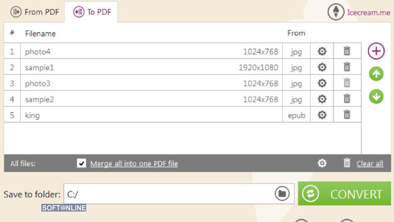 IceCream PDF Converter for PC