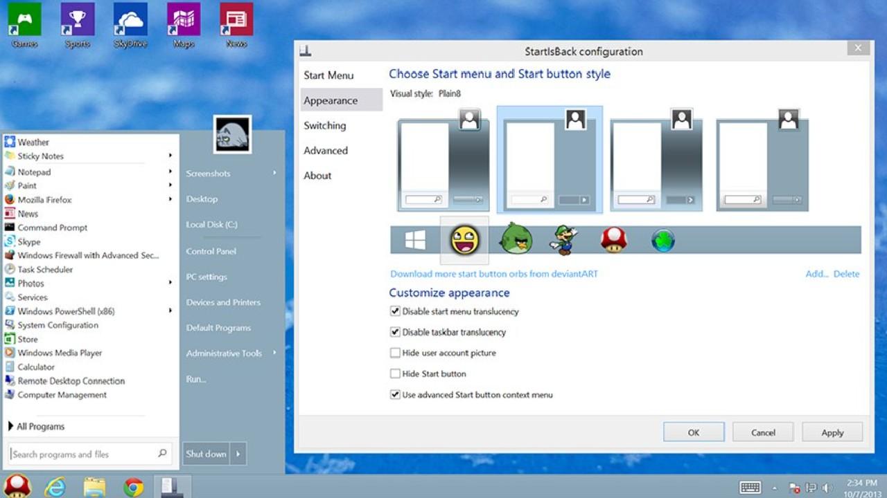 StartIsBack for Windows