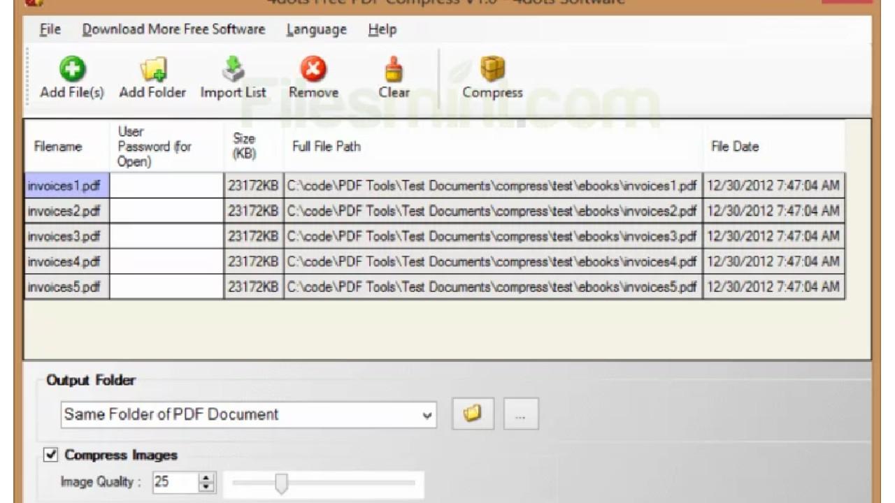 4dots Free PDF Compress for Windows