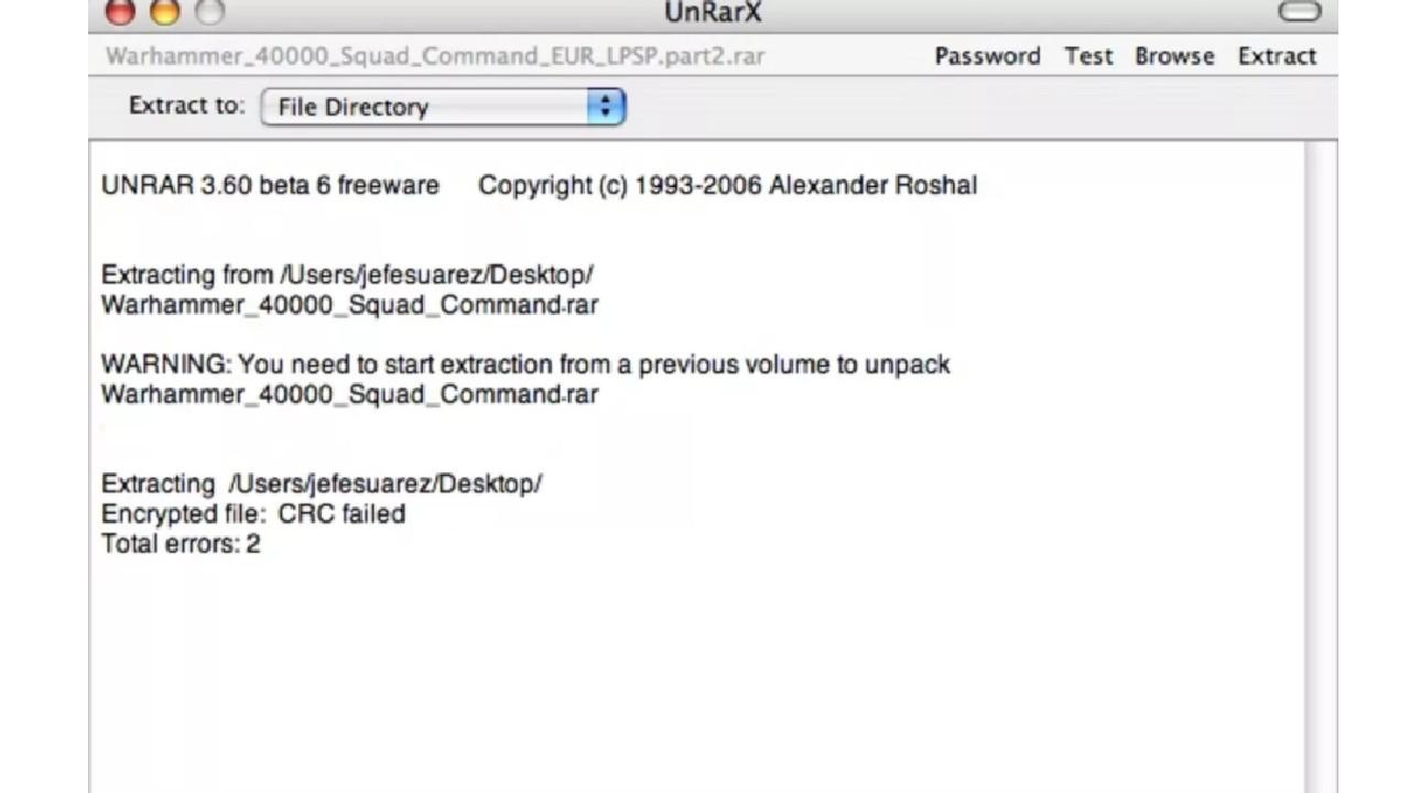 UnRarX for Mac
