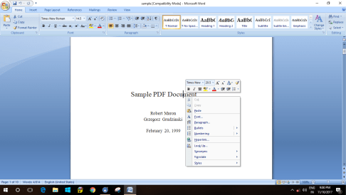 How to convert PDF to Editable Word, excel & other formats