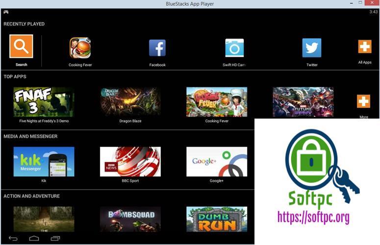 BlueStacks App Player 4.130.6.1102 / 3.56.76.1867 / 2.7.320.850 License With serial key